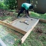 The Water Project: Mukhangu Community, Okumu Spring -  Sanitation Platform Drying In The Frame