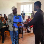 The Water Project: Elukho Community A -  Giving Handwashing Stations To The Community