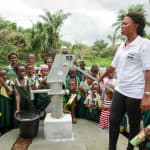 The Water Project: PC Bai Shebora Gbereh III Primary School -  Flowing Water