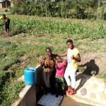 The Water Project: Timbito Community, Wakamu Spring -  Jentrine Nanzala Angeline Ainea And Field Officer Jemmimah Khasoha