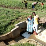 The Water Project: Timbito Community, Wakamu Spring -  Smiles At The Spring
