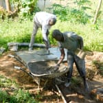 The Water Project: Bukhanga Community, Indangasi Spring -  Casting The Sanplat