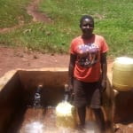 The Water Project: Mudete Community, Wadimbu Spring -  Catherine Egehiza