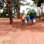 The Water Project: Kegoye Primary School -  Going To Fetch More Water