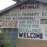 The Water Project: Kigulienyi Primary School -  School Sign