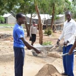 The Water Project: Mbuuni Primary School -  Sifting Sand