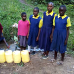 The Water Project: Kapkemich Primary School -  Fetching Water