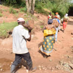 The Water Project: Kala Community C -  Carrying Rocks For Project