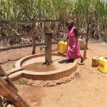 The Water Project: Rubana Yagilewo Community -  At Protected Well Away