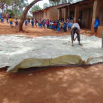 The Water Project: Kegoye Primary School -  Working On The Dome Mesh