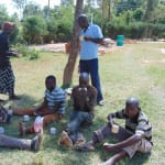 The Water Project: Kigulienyi Primary School -  Artisans Sharing A Meal Provided By The School
