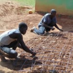The Water Project: Kigulienyi Primary School -  Tank Foundation Construction