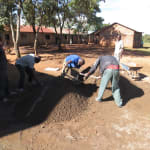 The Water Project: Ingwe Primary School -  Mixing Cement