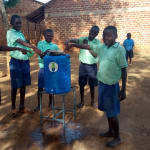 The Water Project: Ingwe Primary School -  Handwashing Station