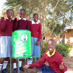 The Water Project: Kapkemich Primary School -  Ashley Washing Her Hands