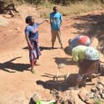 The Water Project: Kathungutu Community -  Gathering Rocks