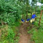 The Water Project: Kapkures Primary School -  Slipping In The Mud