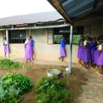 The Water Project: Kapkures Primary School -  Collecting Rain Water