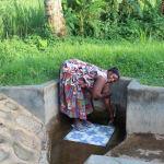 The Water Project: Mukhangu Community, Okumu Spring -  Felistus Isalikhu