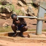 The Water Project: Maluvyu Community E -  Drinking Water From The Well