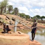 The Water Project: Maluvyu Community E -  Pumping The Well