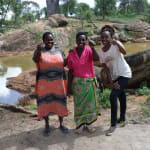 The Water Project: Maluvyu Community E -  Stella Komu Mary Mutua And Field Officer Lilian Kendi