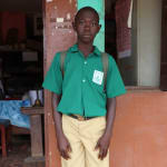 The Water Project: DEC Mahera Primary School -  John Kamara School Head Boy