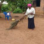 The Water Project: Rubana Yagilewo Community -  Roslyne Kunihira Sweeping At Home