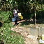 The Water Project: Bukhanga Community, Indangasi Spring -  Indangasi Spring Still Busy As Ever