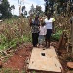 The Water Project: Hirumbi Community, Khalembi Spring -  Proud New Sanitation Platform Owners