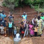 The Water Project: Hirumbi Community, Khalembi Spring -  Community Celebrates The New Spring