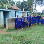 The Water Project: Bulukhombe Primary School -  Girls Outside Their Latrines