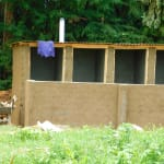 The Water Project: Kapkures Primary School -  Latrines Get Roof And Ventilation Pipe