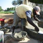 The Water Project: DEC Mahera Primary School -  Pad Construction