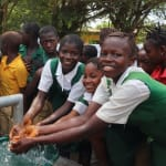 The Water Project: DEC Mahera Primary School -  Students At The Well