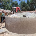 The Water Project: Saride Primary School -  Cementing The Dome