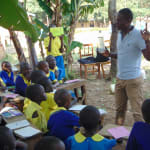 The Water Project: Saride Primary School -  Trainer Samuel Teaches Solar Disinfection