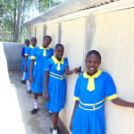 The Water Project: Saride Primary School -  Girls Posing At Vip Latrines