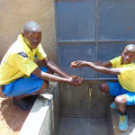 The Water Project: Saride Primary School -  Pupils Enjoying Water