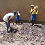 The Water Project: Saride Primary School -  Mixing Concrete