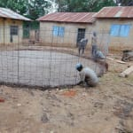 The Water Project: Saride Primary School -  Matching Rebar To Foundation