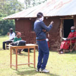 The Water Project: Eluhobe Community, Amadi Spring -  Trainer Simidi Leading The Session