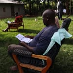 The Water Project: Mukhangu Community, Okumu Spring -  Use Of Pamphlets In The Training