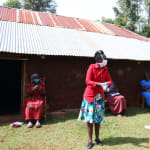 The Water Project: Eluhobe Community, Amadi Spring -  Illustration On Handwashing