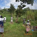 The Water Project: Bukhanga Community, Indangasi Spring -  Embrace The Space For Social Distancing