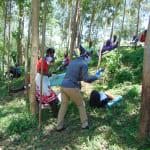 The Water Project: Shiamala Community, David Ashiona Spring -  Facilitator Explains Sanitizer Versus Soap