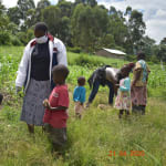 The Water Project: Bukhanga Community, Indangasi Spring -  Kids Help Build Rock Markers At Spring