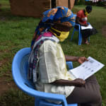The Water Project: Mkunzulu Community, Museywa Spring -  A Community Member With Her Homemade Mask Following Training