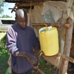 The Water Project: Mkunzulu Community, Museywa Spring -  Installed Handwashing Point In Community