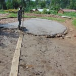 The Water Project: Bulukhombe Primary School -  Setting Tank Slab Foundation